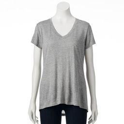 Apt. 9 Embellished Slubbed V-Neck Tee - Women's, Size: X SMALL, Grey   Kohl's