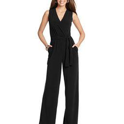 NY Collection Sleeveless Wide-Leg Jumpsuit   Macys (US)