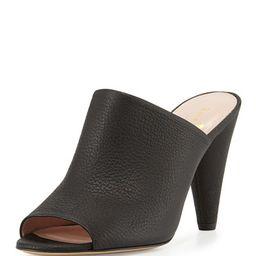 kate spade new york          bova peep-toe cone-heel mule, black   Neiman Marcus