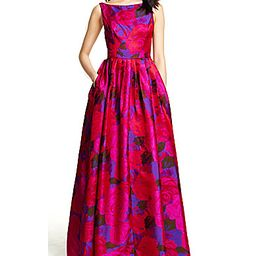 Adrianna Papell Sleeveless Floral Gown | Dillards Inc.