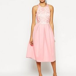 ASOS Lace Top Scuba Debutante Midi Dress | ASOS US