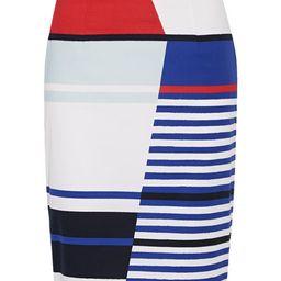 Marina striped stretch-cotton pencil skirt | Net-a-Porter (US)