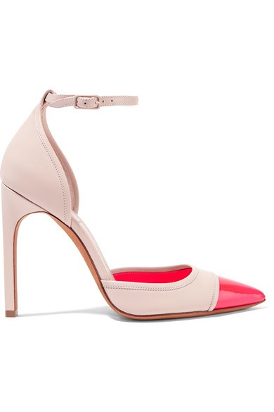 Matte and patent-leather pumps