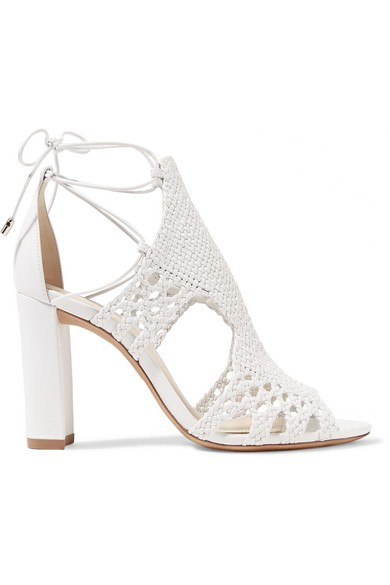 Woven leather sandals