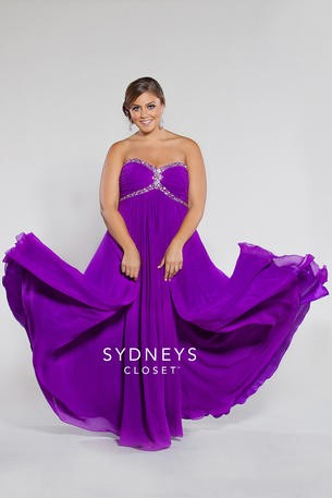 Purple Plus Size Prom Dress