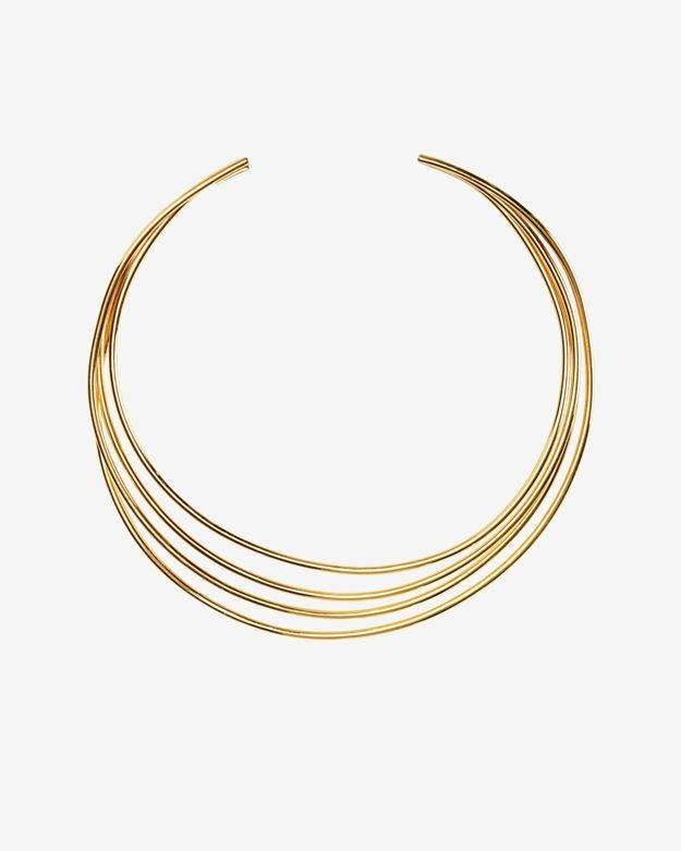Philippe Audibert Molded 4 Wire Choker: Gold