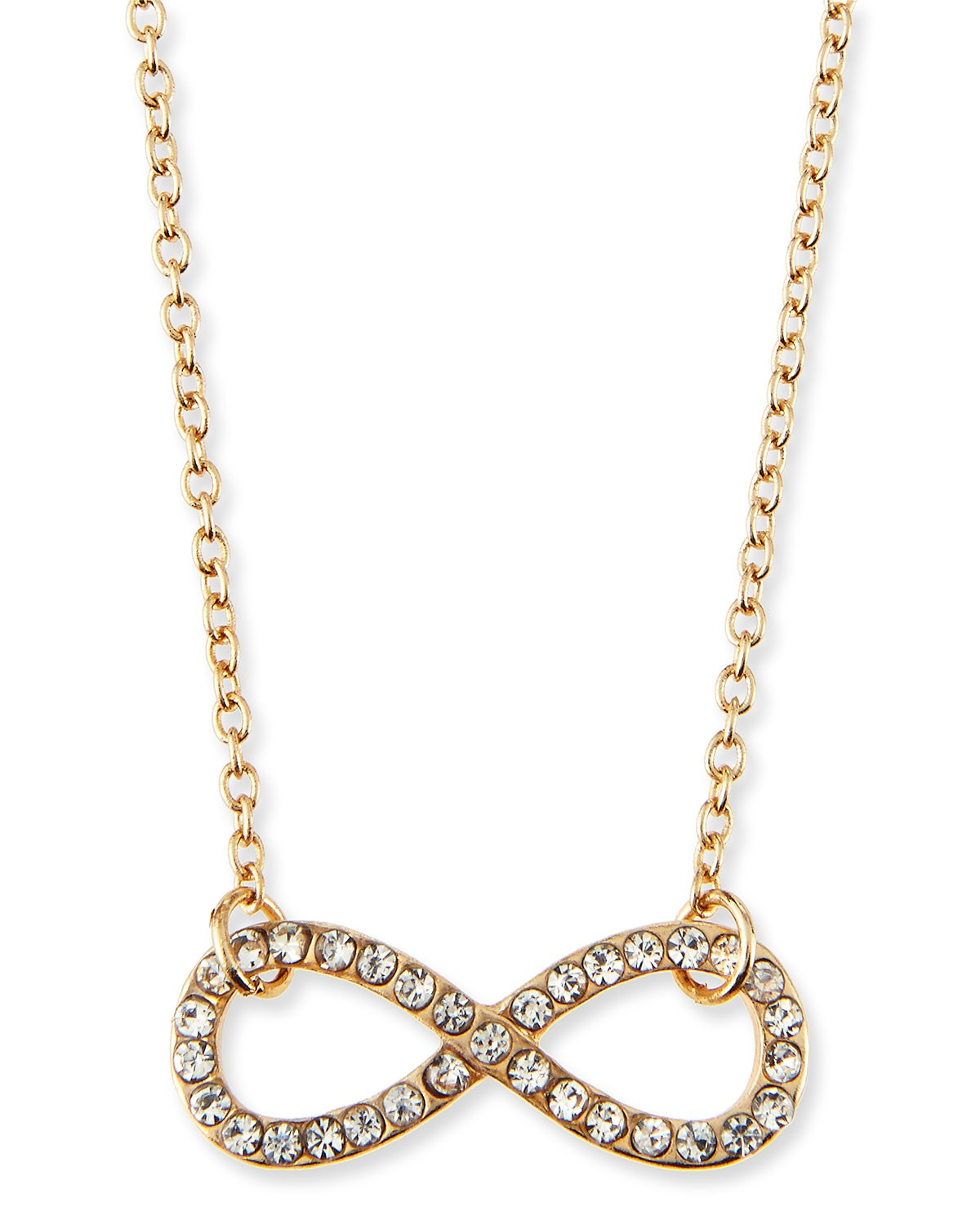 Infinity Charm Pave Crystal Necklace - Jules Smith - Gold (ONE SIZE)