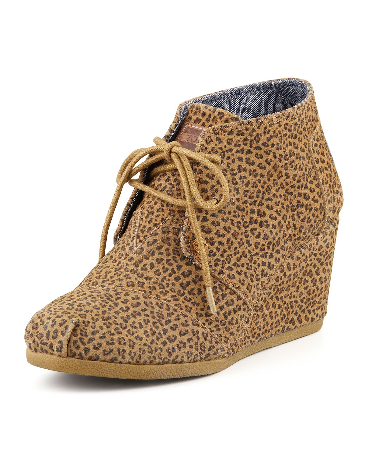 Cheetah-Print Wedge Desert Boot - TOMS - Brown multi (35.0B/5.0B)