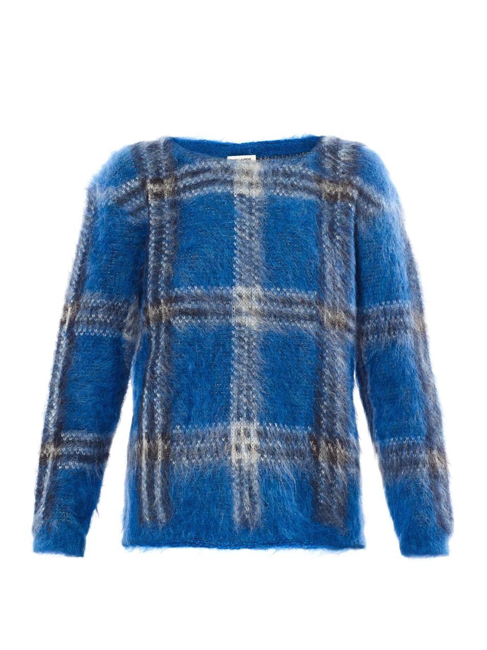 Tartan mohair sweater