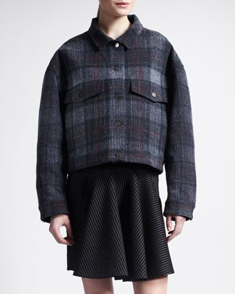 Striped Trumpet-Front Skirt - Stella McCartney