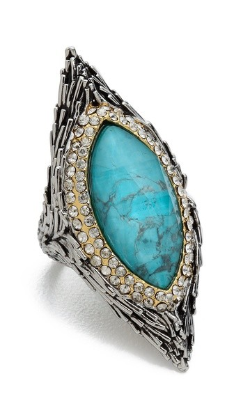 Feathered Pave Bezel Ring