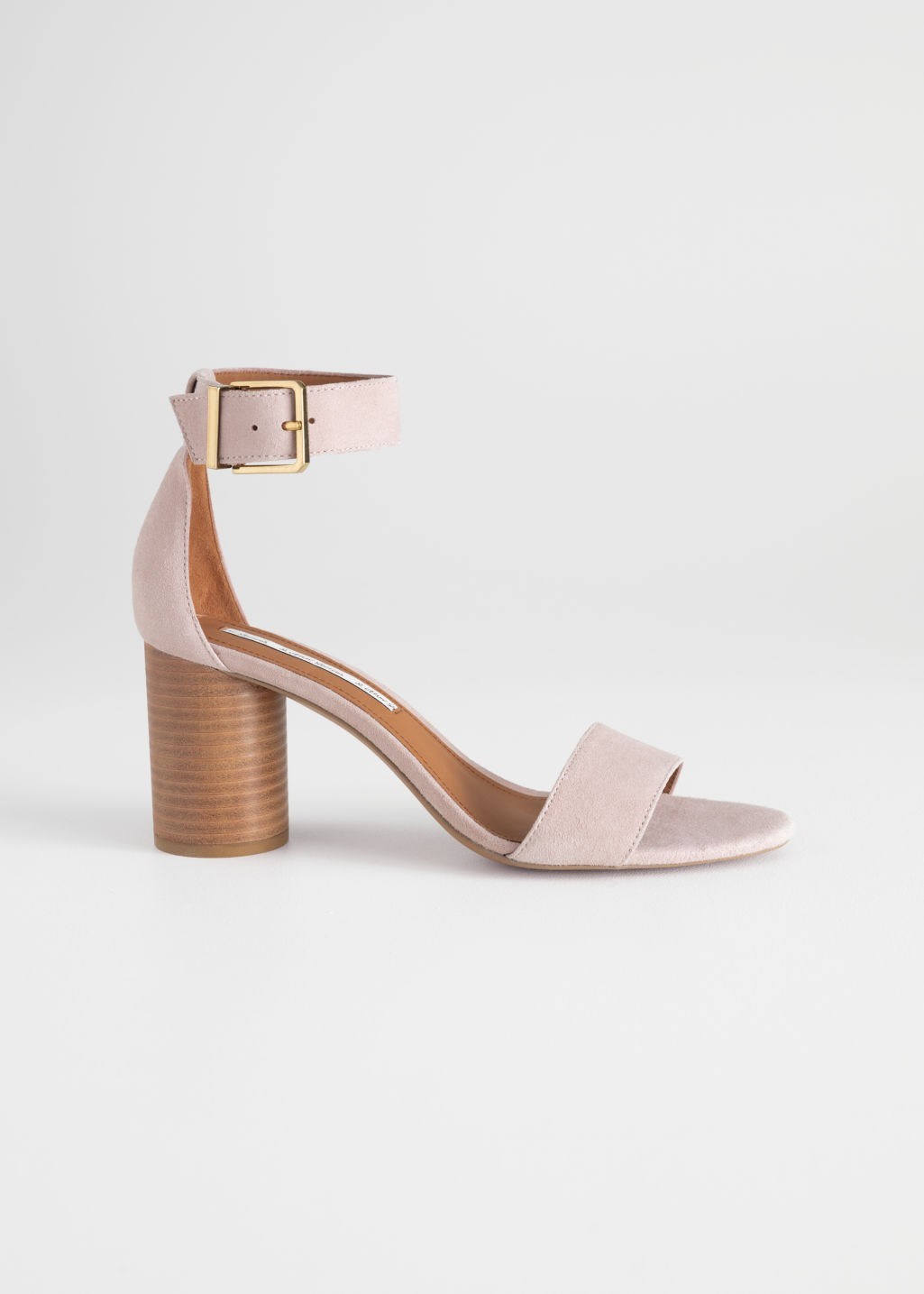 59f5c0f0cff9 Square Buckle Heeled Sandals