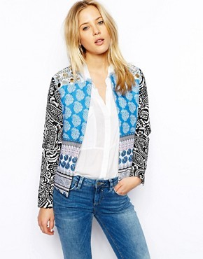 ASOS Jacket With Mirror Trim Embellishment