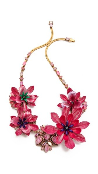 Urban Jungle Floral  Necklace