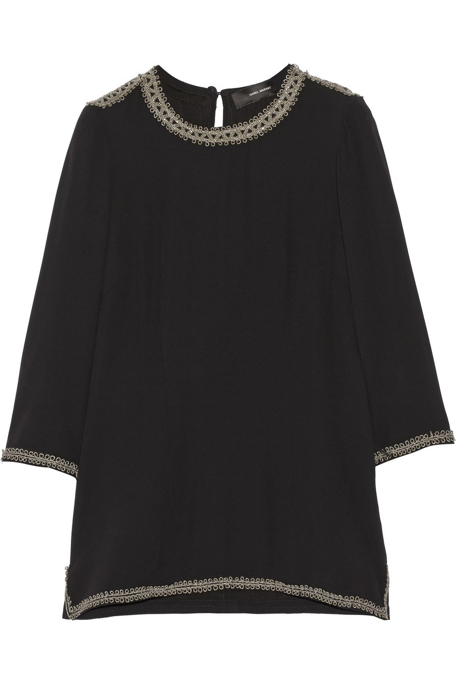 Varvin embellished crepe top