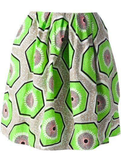 kiwi print skirt