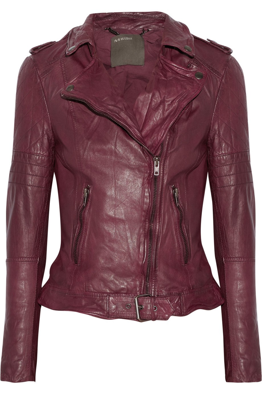 Nido quilted leather biker jacket