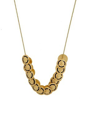 Sam Ubhi Vintage Button Discs Necklace