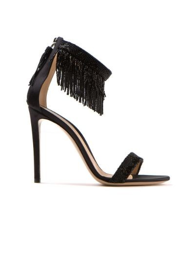 beaded fringe sandal