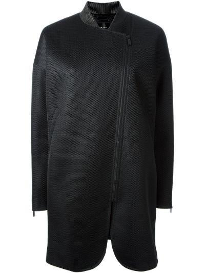 zip fastening coat