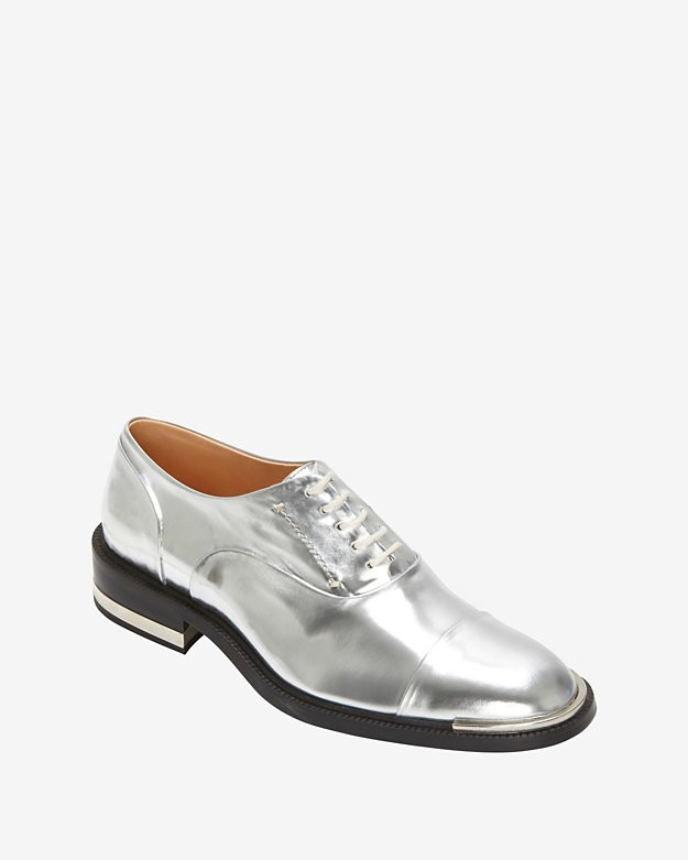 Barbara Bui Wingtip Brogue Oxfords: Silver