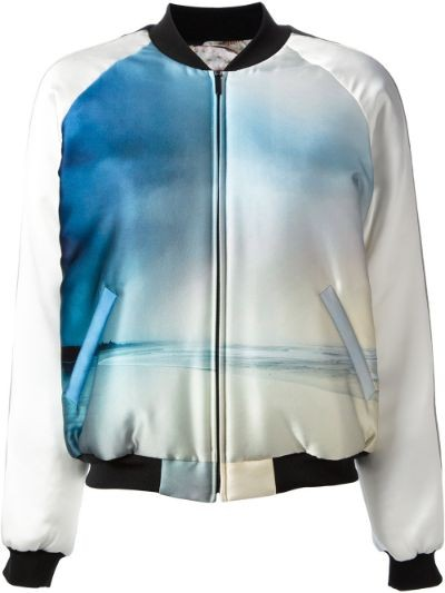 reversible printed bomber jacket