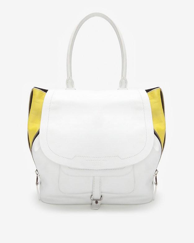 SALE  Barbara Bui Contrast Zipper Drawstring Shoulder Bag