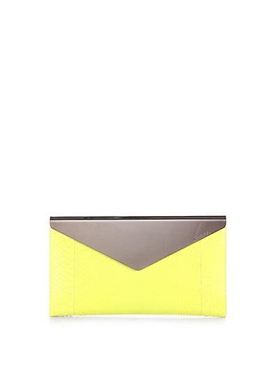 Charlize Python Envelope Clutch