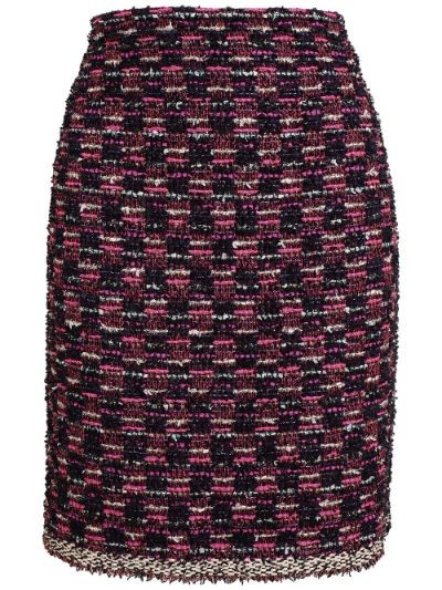 Bouclé Tweed Pencil Skirt