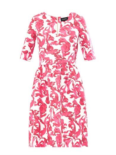 Victoria floral-print cotton-blend dress