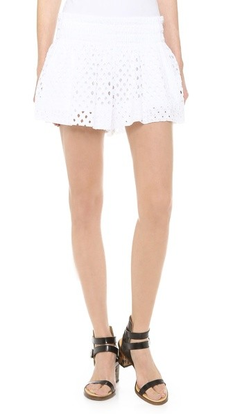 Tessa Eyelet Mini Shorts