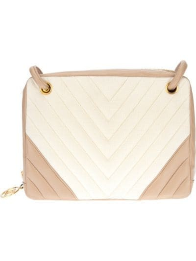 bi-colour quilted bag