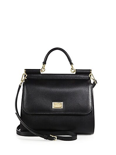 Miss Sicily Textured-Leather Bag