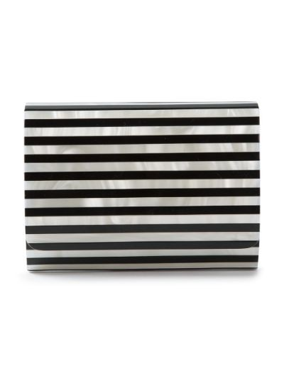 striped perspex clutch