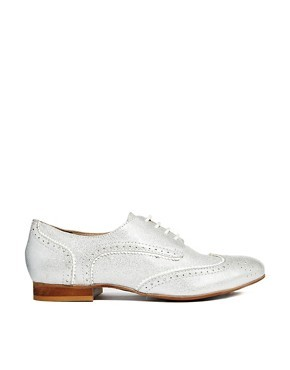 Dune Larrison Pewter Shiny Brogue Shoes