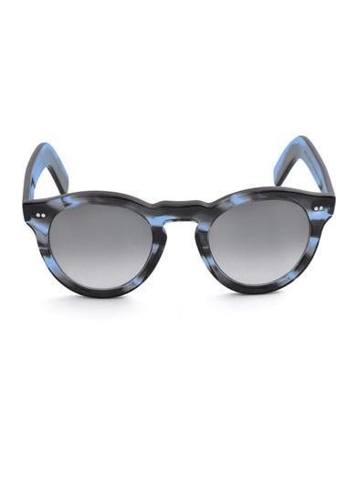 Tortoiseshell round-framed sunglasses