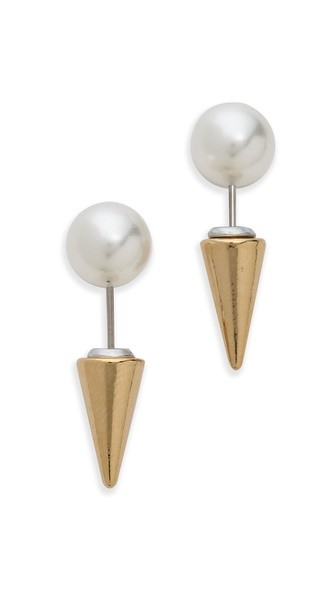 Swarovski Imitation Pearl Microspike Earrings
