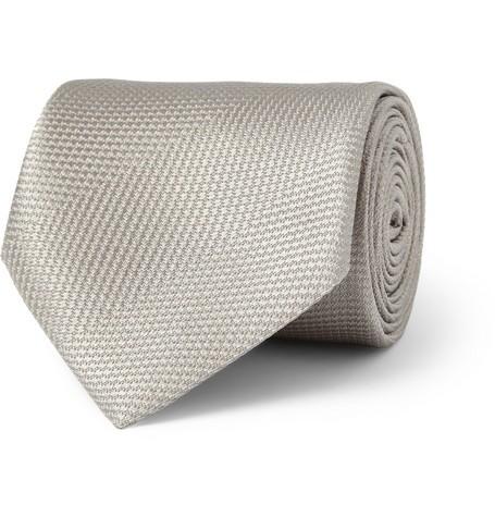 Textured Woven-Silk Tie