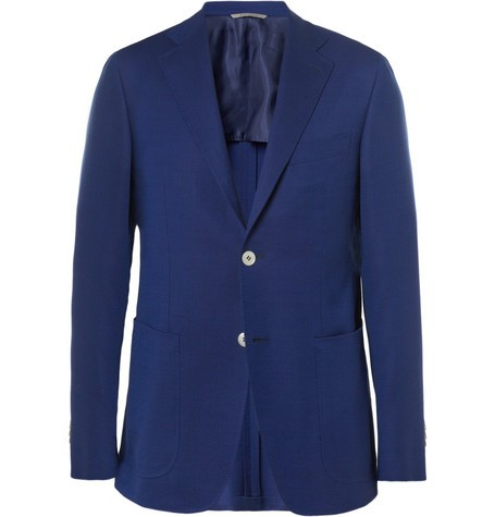 Kei Travel Unstructured Wool Blazer