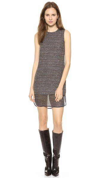 Multi Tweed Print Hassil C Dress