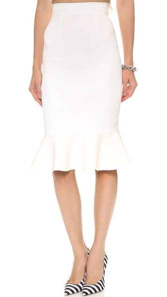 Crepe Flared Hem Skirt
