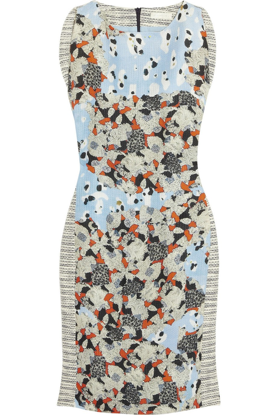 Floral-print cotton and linen-blend dress