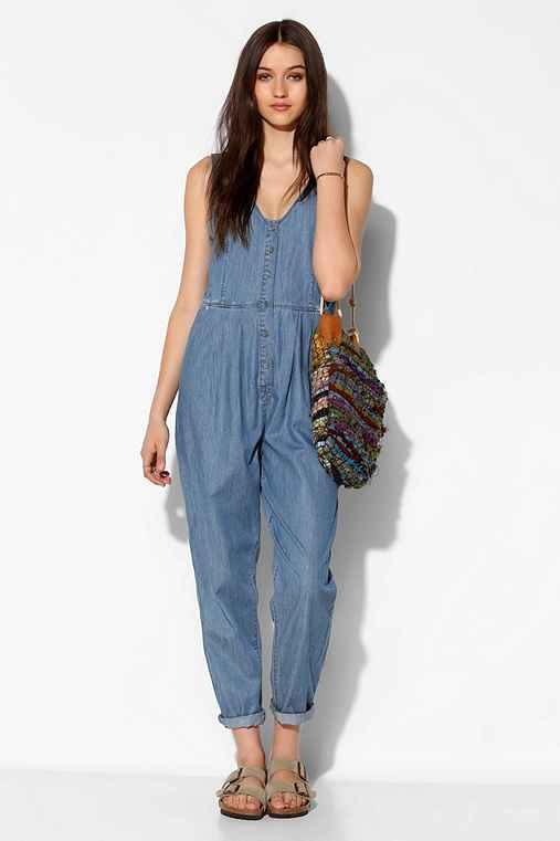RES Denim Love Bites Chambray Button-Front Jumpsuit