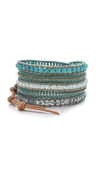 Turquoise Beaded Wrap Bracelet