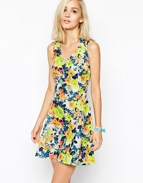 River Island Floral Cross Strap Dress