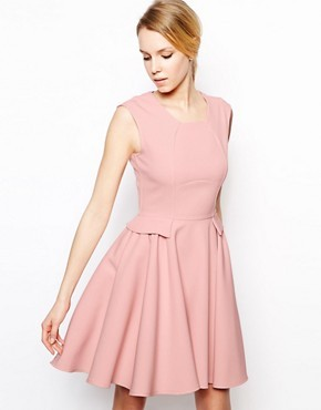 Closet Skater Dress with Peplum