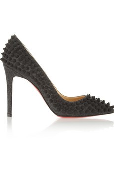 Pigalle Spikes 100 felt pumps