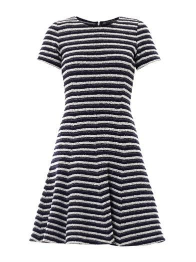 Albita textured-stripe dress