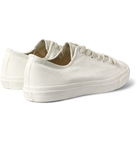 Red Maison Martin Margiela Jack Purcell Painted Leather Sneakers