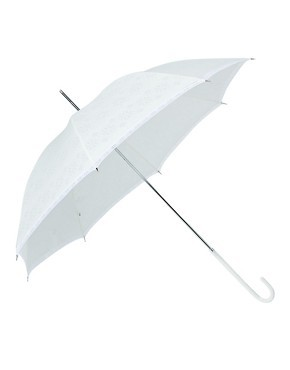 Fulton Eliza Devore Lace White Umbrella